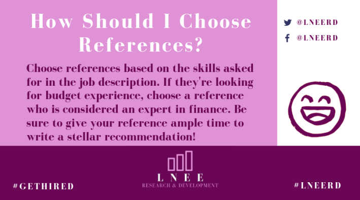 Pink and magenta Lnee R&D inforgraphic about how to choose a good reference