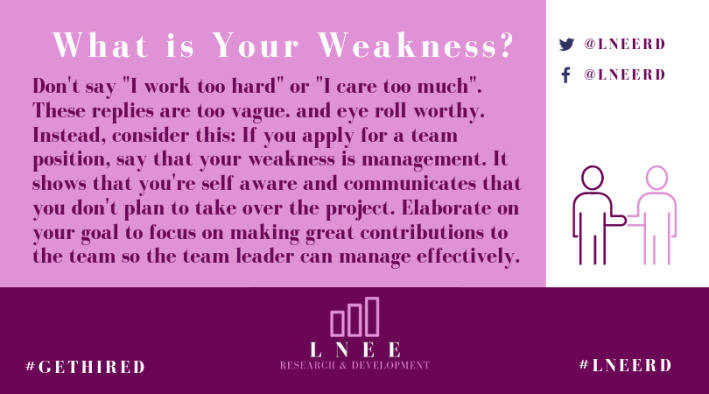 Pink and magenta Lnee R&D inforgraphic about being humble in an interview